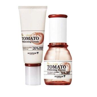 Harga Skinfood Premium Tomato Whitening Essence 50ml + Cream 50ml (เซรั่ม+ครีม)