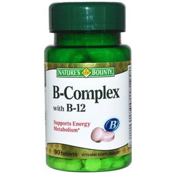Harga Nature's Bounty, B-Complex With B-12, 90 Tablets