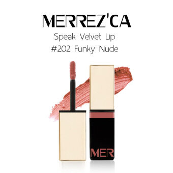Harga Merrez'Ca Speak Velvet Lip #202 Funky Nude