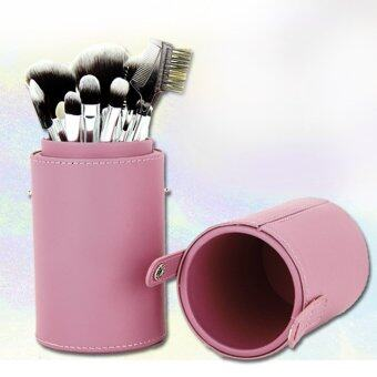 Harga Travel Leather Cosmetic Brush Pen Holder (Pink)