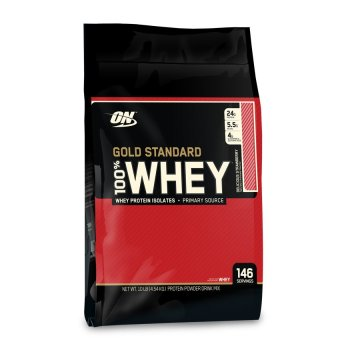 Harga Optimum Whey Gold Standard 10Lbs - Delicious Strawberry