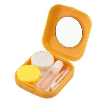 Harga USTORE Plastic Mini Contact Lens Case Outdoor Travel Contact Lens Holder Container - intl