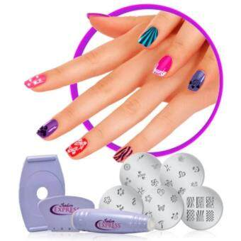 Harga Multifunction Manicure Set Nail Printing Machine เครื่องเพ้นเล็บ (Light Purple)