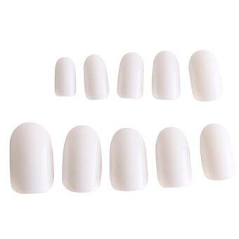 Harga Ai Home 600Pcs Full Cover Nail Tips Acrylic Artificial False Nails Beauty Set (White)
