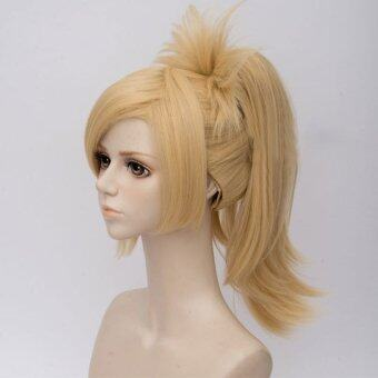 Harga Overwatch Mercy Women Lady Cosplay Party Hair Wig Short Straight Blonde Ponytail - intl