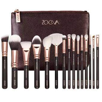 Harga ZOEVA 15PCS Cosmetic Brushes Foundation Brush Eye shadow brushes, Deluxe Package Send cosmetic (bag Brown) น้ำตาล