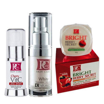 Harga Pcare skincare Beauty Combo SetI (White Booster Mask+Bright Berry Secret+Cherry VitC Plus serum)