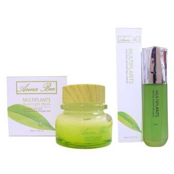 Harga Anna Bee Multiplants Overnight Mask 50g.& Anna Bee Multiplants Natural Detoxifying serum 60ml