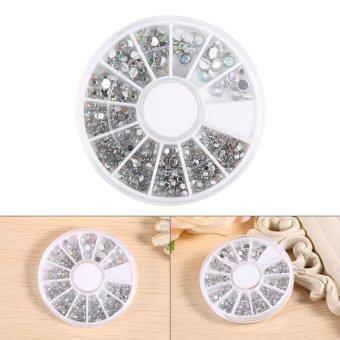Harga Round Shaped Nail Art Rhinestone Sticker Decoration Manicure Wheel - intl
