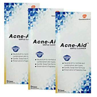 Harga Acne-Aid Gentle Cleanser 100ml (3ขวด)