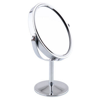 Harga New Cosmetic Makeup Oval Cosmetic Double-Sided Normal Magnifying Stand Mirror