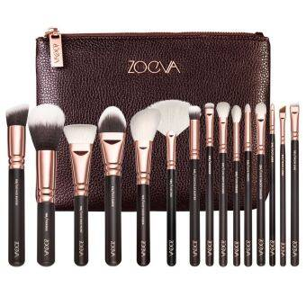 Harga ZOEVA 15PCS Cosmetic Brushes Foundation Brush Eye shadow brushes, Deluxe Package Send cosmetic bag Black