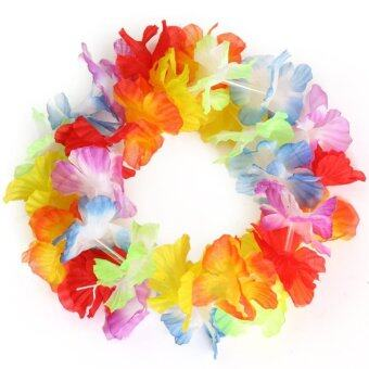 Harga 10 pcs Hawaiian Beach Luau Party Flower Garland Lei Leis Necklace Colorful Deco - intl