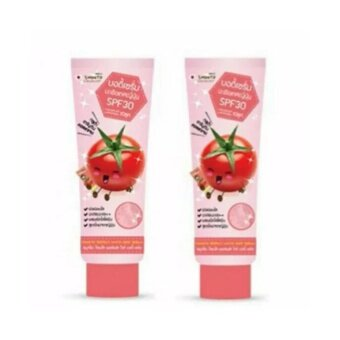 Harga แพคคู่ Smooto Tomato Perfect White Body Serum SPF30 100 ml