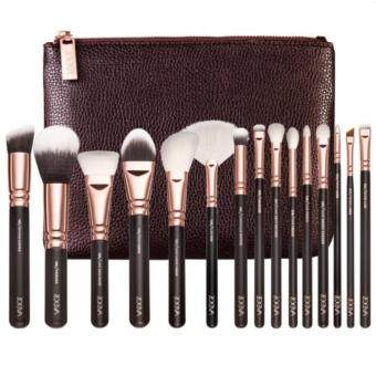 Harga ชุดแปรงกระเป๋าน้ำตาล Cosmetic Brushes Foundation Brush Eye shadow brushes, Deluxe Package Send cosmetic (bag Brown) น้ำตาล