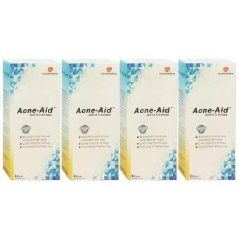 Harga Acne-Aid Gentle Cleanser 100ml (4ขวด)