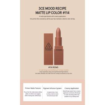 Harga 3CE Stylenanda Mood Recipe Matte Lip Color # 114