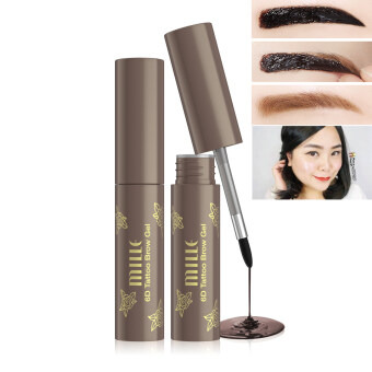 Mille เจลสักคิ้ว 6 มิติ 6D TATTOO BROW GEL WATERPROOF #Gray Brown