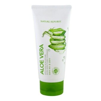 โฟมล้างหน้าอโลเวร่า Nature Republic : Aloe Vera Soothing & Moisture 'Aloe Vera Foam Cleanser'(150 ml)