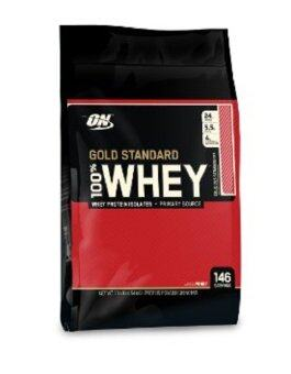 Harga OPTIMUM Whey Protein Gold 10 Lbs. - Delicious Strawberry