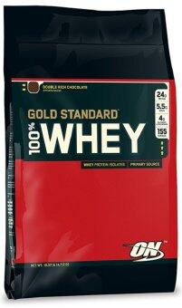 Harga OPTIMUM Whey Protein Gold 10 Lbs. - Double rich chocolate