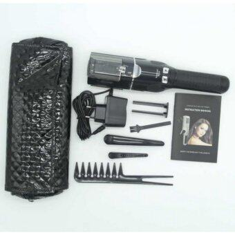 Harga Professional Damaged Hair Trimmer With Comb Hairstyle Set US PlugBlack - intl