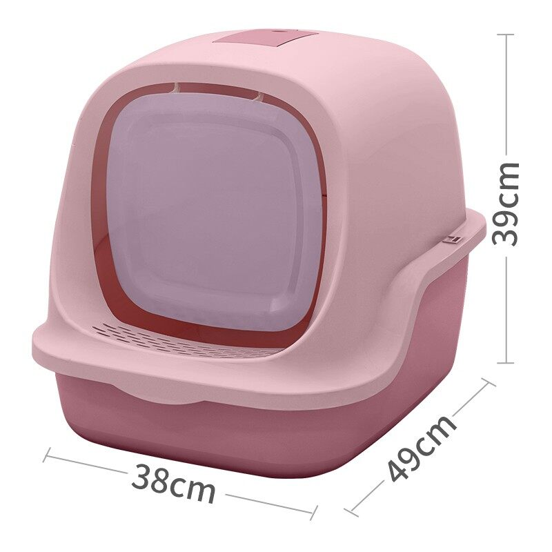 Cat Little Box ห้องน้ำแมวทรงโดม ห้องน้ำแมว กระบะทรายแมว รุ่น ฝาเปิดเต็มใบ สินค้าดี ราคถูกจัดส่งในประเทษไทย #P087