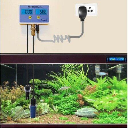 เครื่องวัดคุณภาพน้ำ สำหรับตู้ปลา วัดตะกอนและค่าความเป็นกรด-ด่าง TDS & pH Meter