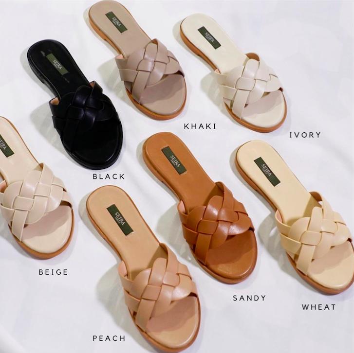 Seira Elves - Weave Sandals รองเท้าแตะ ขายที่ดีสุดของร้าน ใส่สบายมากก (สั่งบวกเพิ่ม 1 ไซส์) Restock มาแล้วนับ 10 รอบ มากี่รอบของหมดไซส์หมดไวทุกที.
