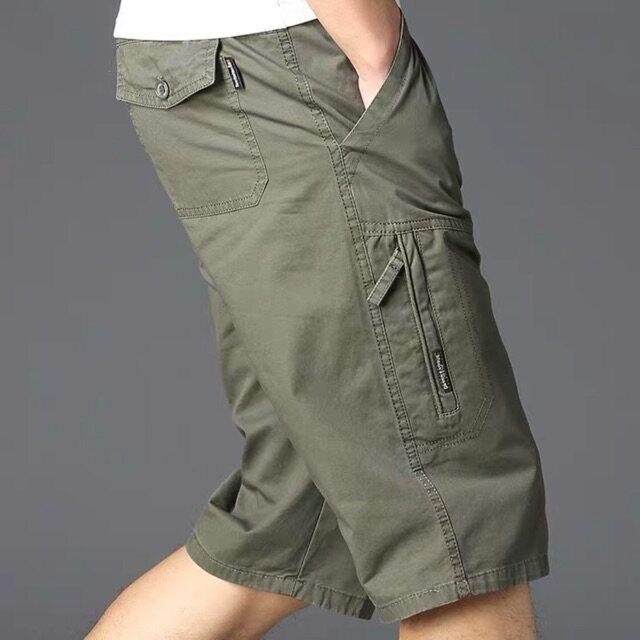 (พร้อมส่ง) กางเกงขาสั้นชาย ผ้าฝ้าย 28-42 รวมสีขายดี Set 1 ผ้าดี สีไม่ตก งานห้าง ทรงสวย (เทียบไซส์กางเกงเลื่อนดูรายระเอียดด้านล่่าง).