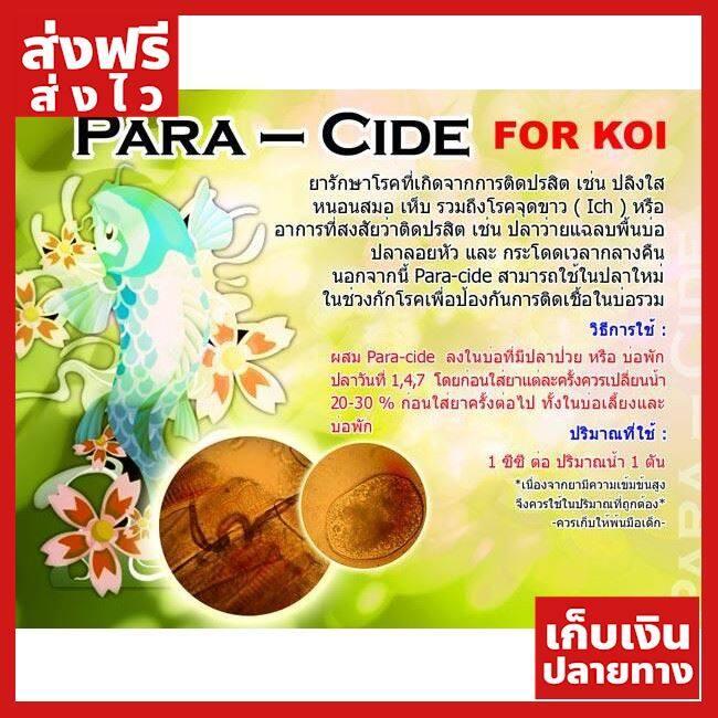 [ส่งฟรี] Para-Cide 100 ml. (สำหรับปลาคาร์พ กำจัด เห็บหนอนสมอ ปลิงใส จุดขาว) ของแท้ ส่งไว ได้ของไว ฟรี!! ของแถม มีดนามบัตรพกพา