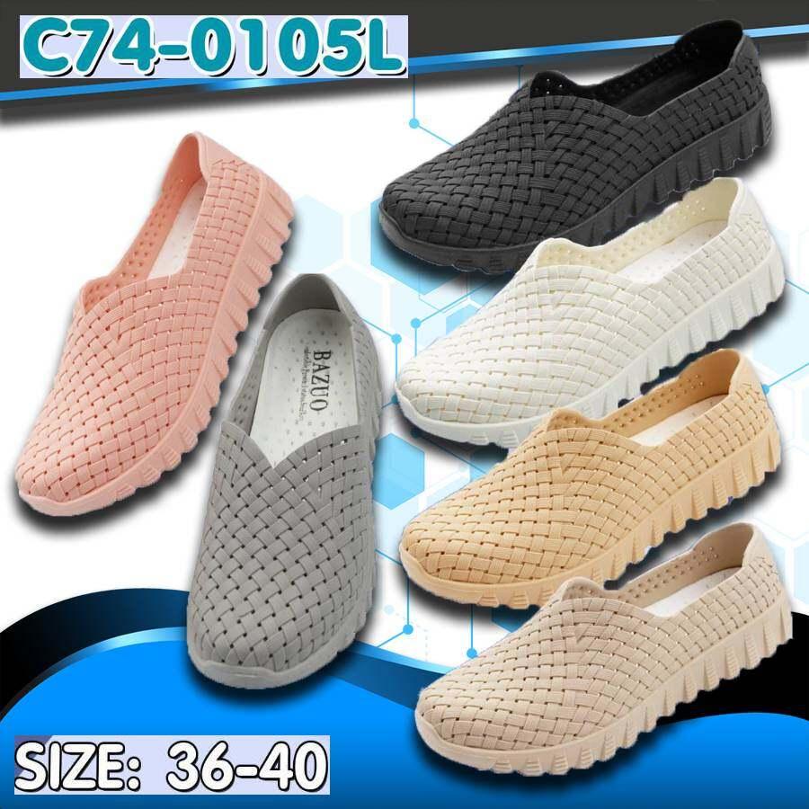 New!!!!! รองเท้าคัชชูยาง สู้ฝน มาใหม่ ใส่นิ่มๆ พื้นถอด ซักได้ รุ่น C74-0105l.