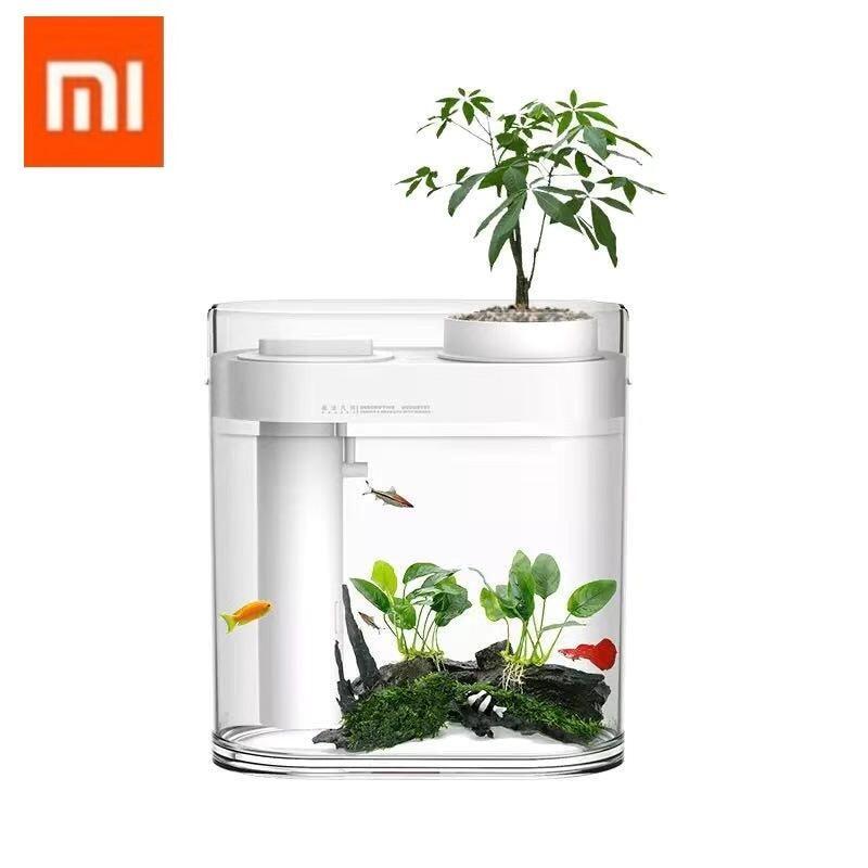Xiaomi ตู้ปลา อัจฉริยะ ตู้ปลาจำลองระบบนิเวศน์ในน้ำและสวนเล็กๆบนบก Xiaomi Mijia Transparent Fish Tank Ecosystem