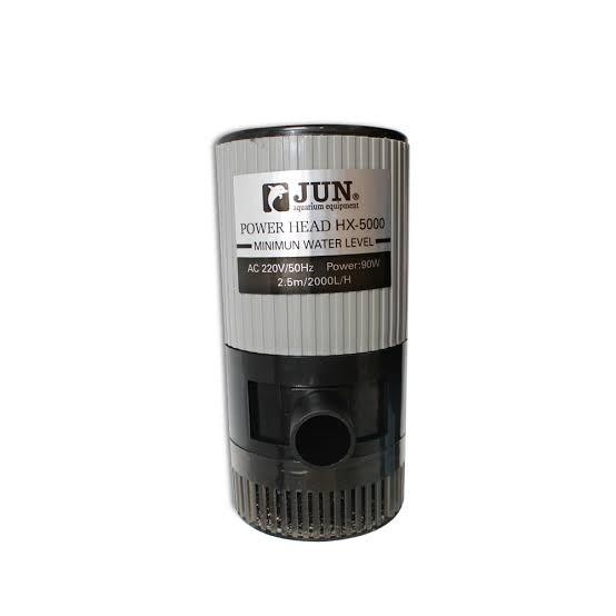 JUN HX-5000 ปั้มน้ำสำหรับทำระบบกรอง ทำน้ำพุ หินหมุน หมุนเวียนน้ำ ในตู้ หรือบ่อปลา