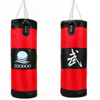 100cm Empty Punching Bag With Chain Martial Art Hollow Taekwondoboxing Training Fitness Sandbag กระสอบต่อยมวย สีแดง 1 Pcs