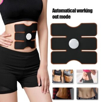 3Pcs/Set Wireless EMS Muscle Training Gear Arm Abdominal ABsFitness Trainers Black - intl