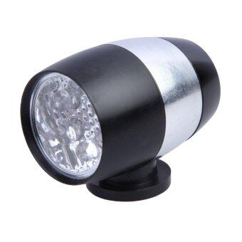 6 LED Waterproof Cycling Safety Head Light Bike Flash light TailBlack