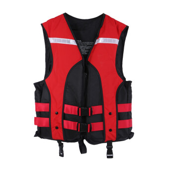 Adult Water Sports Gilet Swimmer Jackets Life Saving Vest (Red) -intl