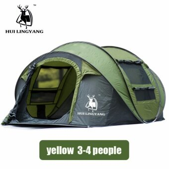 Harga Antelope automatic tent new 3-4 people quick open camping campingoutdoor supplies spot - intl