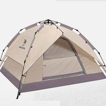 Camel Outdoor Automatic Tents 3-4 Double Tent Sun Visor Waterproof Camping Tent - intl