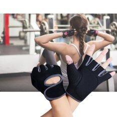 Elit ถุงมือฟิตเนส ถุงมือออกกำลังกาย ไซส์ S Fitness Glove Weight Lifting Gloves Grey.
