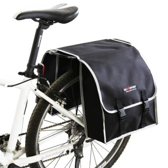 Harga EOZY Bike Mountain Bicycle Carrier Rear Seat Carrier Bag DoublePannier Bag Travel Bag (Black) - intl