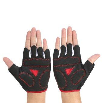 Harga L Half Finger Scratch Proof Mountain Bicycle Gloves (#2) - intl