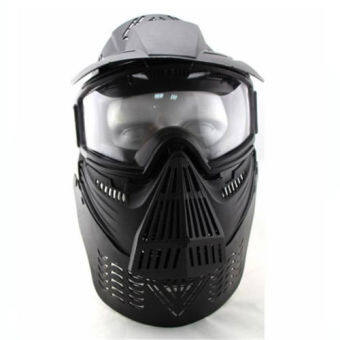Harga Face Guard Mask with Goggles&Neck Protect in Black - Intl - intl