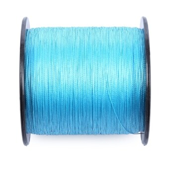 Harga PROBEROS 500M Durable Colorful PE 4 Strands Monofilament Braided Fishing Line Angling Accessory (50LBS) (Blue) - intl