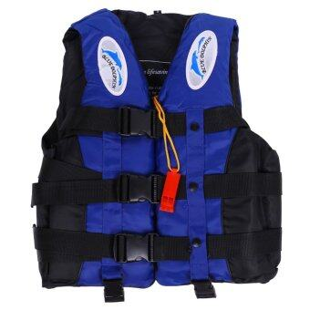 Harga Polyester Adult Life Jacket Universal Swimming Boating(Blue S)