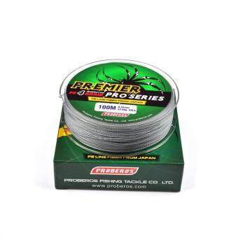 Harga 100M Super Strong PE Braided Fishing Line 25LB Gray - intl