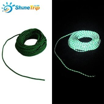 Harga 50 Feet Reflective Nylon Cord Woven for High Strength Tent Rope Camping Awning Shelter Cord Tent Rope - intl