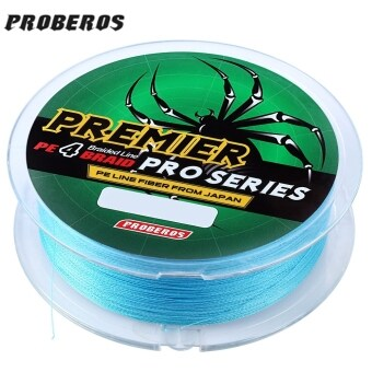 Harga PROBEROS 100M PE 4 Strands Monofilament Braided Fishing Line Accessory 35LBS(Blue)