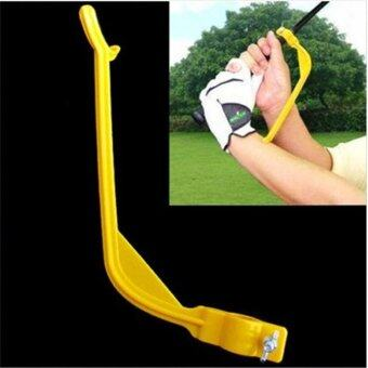 Harga Ai Home Golf Beginner Gesture Alignment Tools Swing Trainer (Yellow) - intl